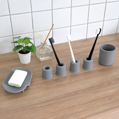 실리베스 소프트 실리콘 욕실 4인 세트