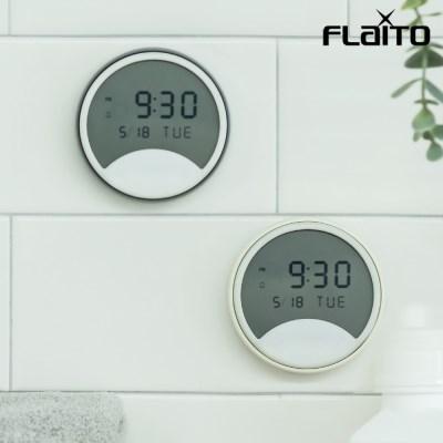 플라이토 하프문 디지털 욕실 흡착 방수시계