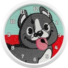 천방지축 해피 강아지 (벽시계) 보석십자수 23.5x23.5