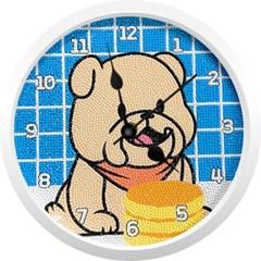달콤한 디저트 강아지 (벽시계) 보석십자수 23.5x23.5