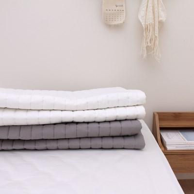바스락 60수 순면 미끄럼방지 사계절 침대패드(S/Q/K)