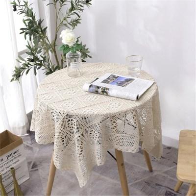 예쁜 테이블보 사각 원형 식탁보 모던 레이스 협탁보 J