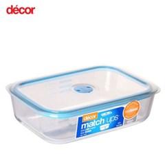 [데코어] 매치업 글래스 밀폐용기 블루 2.5L