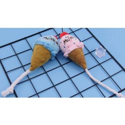 해피콘 아이스크림 강아지 봉제인형 장난감