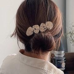 하얀비의 알록달록 지점토 머리핀 만들기 (10개)
