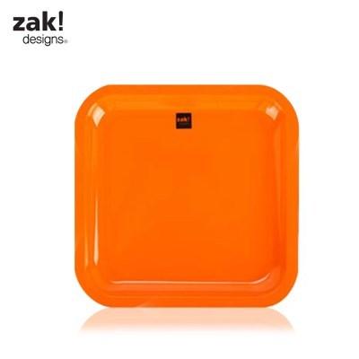 [잭디자인] 사각쟁반 소 오렌지 BPA free