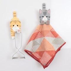 고양이 자석 걸이 클립(스마트폰 스탠드 겸용)