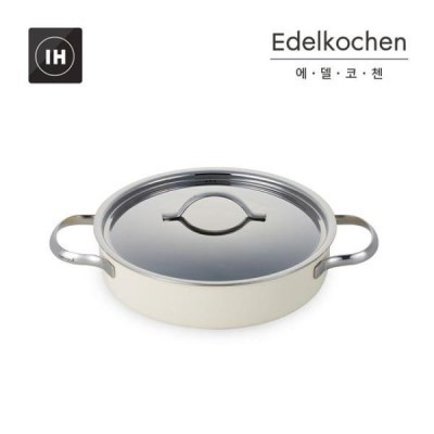 에델코첸 통3중 클래식L 전골냄비 24cm (아이보리)