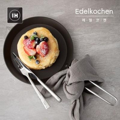 에델코첸 통3중 팬케이크팬 프라이팬 28cm (블랙 논스틱)