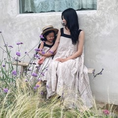 린넨 티얼드 드레스 : Linen tiered dress- kids