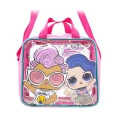 LOL 사각 비치백 수영가방 핑크 3422