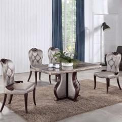 젠틱가구 줄리앙 대리석 4인용 식탁세트 테이블 의자