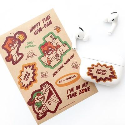 제이로그x롯데월드 Feel free sticker - 크라프트