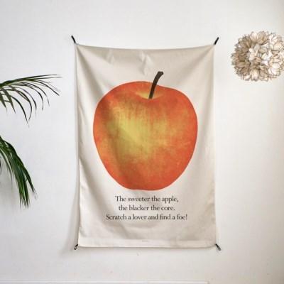 일러스트 패브릭 포스터 / 가리개 커튼_apple 01