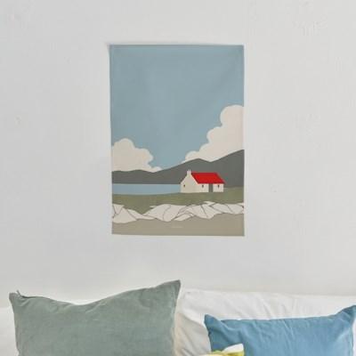일러스트 패브릭 포스터 / 가리개 커튼_red roof 01