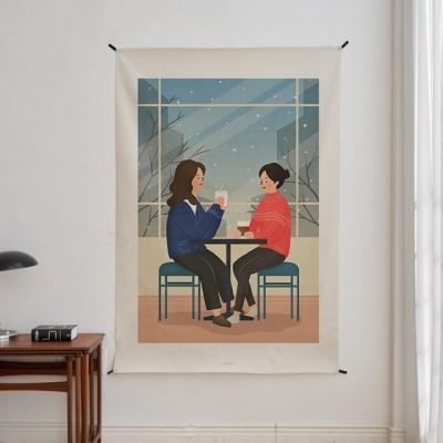 일러스트 패브릭 포스터 / 가리개 커튼_friendship 04