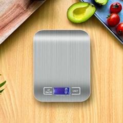 사용이 간편하고 위생적인 스텐레스 디지털 주방저울 1kg