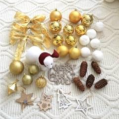 크리스마스 트리 오너먼트 루체스골드 장식세트