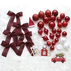 크리스마스 트리 오너먼트 에리카레드 장식세트