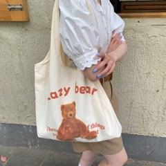 LAZY BEAR 귀여운 곰돌이 테디베어 에코백