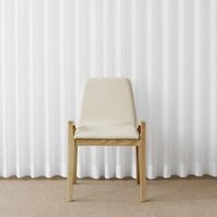 [지젤내츄럴] A형 의자 아이보리