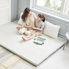슬립스파 엄마토퍼 메모리폼 매트리스 침대 바닥이불 접이식 라지킹