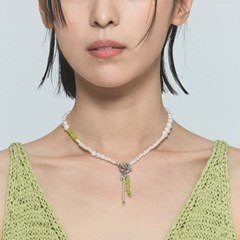 Green grape indian pearl necklace