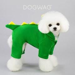 도그웨그 공룡 코스튬 강아지 겨울 옷 올인원 후드티