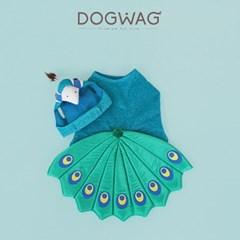 도그웨그 공작새 강아지 코스튬 고양이 할로윈 코스프레 옷