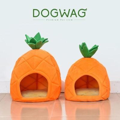 도그웨그 파인애플 강아지 하우스 고양이 숨숨집 애견 동굴 집