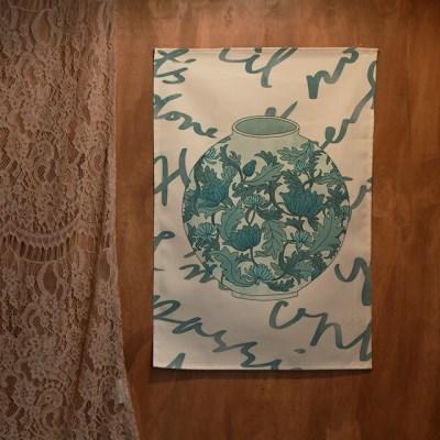 일러스트 패브릭 포스터 / 가리개 커튼_달항아리 04