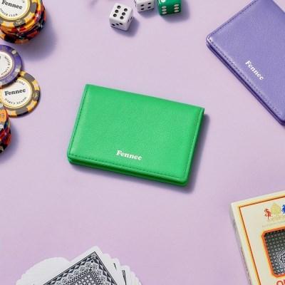 [21FW] FENNEC SOFT CARD CASE - TINT GREEN