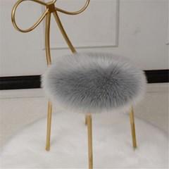 양털 양모 좌석 원형 방석 식탁 의자 털 소파 쿠션 J
