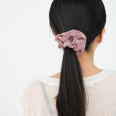 학생 무지 기본 슈슈 곱창밴드 핑크 카키 학생 헤어 머리끈