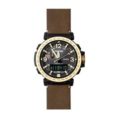 지샥 프로트렉 남성 가죽 시계 PRG-600YL-5DR