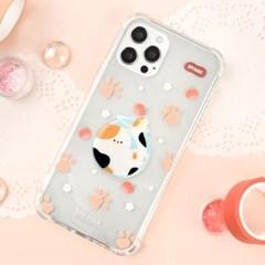 후르츠 고양이 냥 클리어 하드 케이스+젤리톡 아이폰 갤럭시
