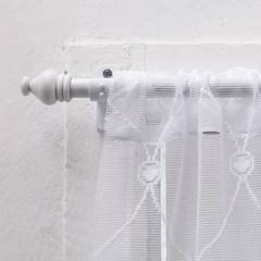 해리스 화이트슬림 봉집형 커튼봉 3단 100~300cm