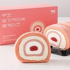 쿠캣마켓 딸기 떡이쏙 롤케이크
