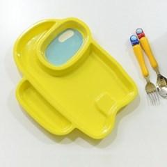 어몽어스 간식 접시 어린이 유치원 어린이집 그릇