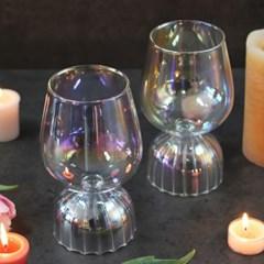 티니블랑 홀로그램 홈카페 유리컵 - 벨 오로라 글램와인글라스 390ml