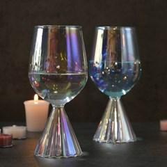 티니블랑 홀로그램 홈카페 유리컵 - 벨 오로라 와인글라스 390ml