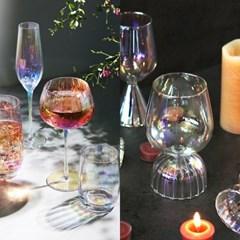 홀로그램 오로라 홈카페 유리컵&와인잔