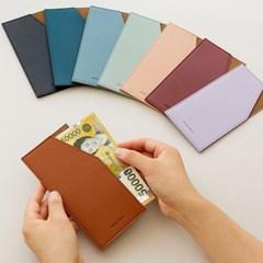 ♥각인가능♥ 카드 포켓 지갑형 가죽 용돈봉투
