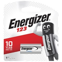 에너자이저 CR123 리튬 건전지 1입 카메라 폴라로이드 배터리