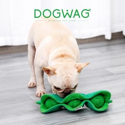 도그웨그 완두콩 노즈워크 강아지 간식 장난감 삑삑이