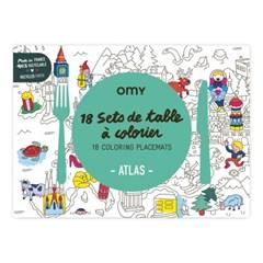 OMY 컬러링 플레이스매트-아틀라스 (OMY-SET14)