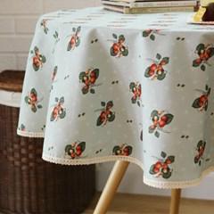 들딸기 원형식탁보(민트)