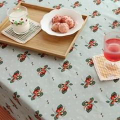 들딸기 식탁보(민트)