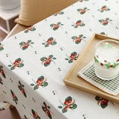 들딸기 식탁보(크림)