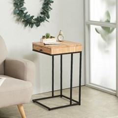 참죽 원목 ㄷ자 좁은 차키 쇼파 서랍 사이드 테이블